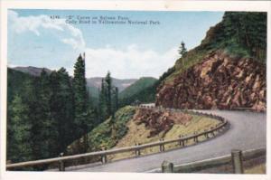 S Curve On Sylvan Pass Yellowstone National Park