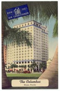 Miami, Florida, Early View of The Columbus Hotel