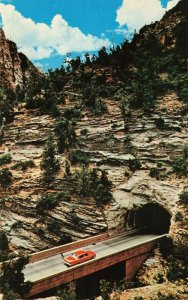 Postcard Zion Mt Carmel Tunnel Zion National Park Utah