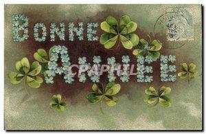 Old Postcard Fantasy Flowers Good year Trefles
