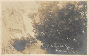 RPPC Schaferoid Falls Whitehall, WI Green Bay & Winona RPO 1907 Vintage Postcard