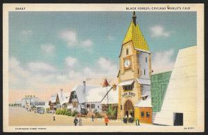 Chicago Worlds Fair 1933-1934 Black Forest Chicago Illinois Unused c1934