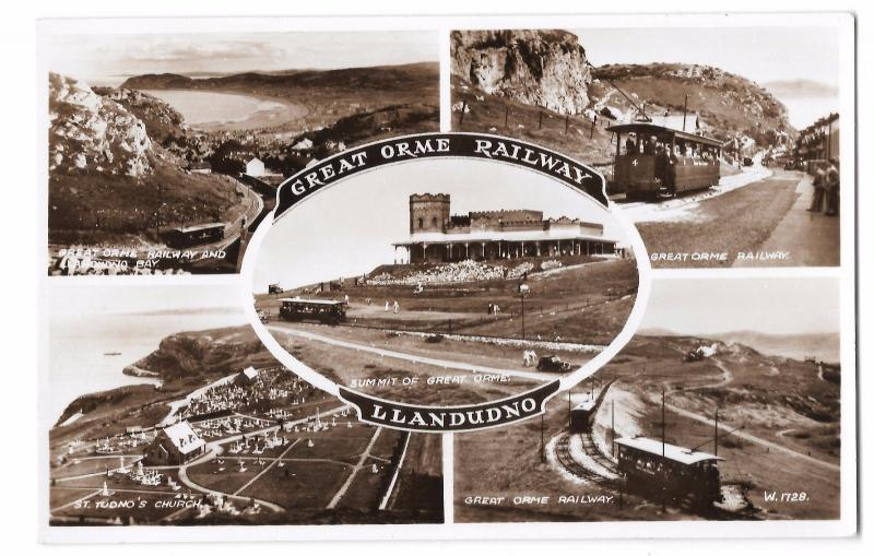 Great Orme Railway Multiview RP PPC, Unposted, W1728 Shows Summit, Car 4, Church