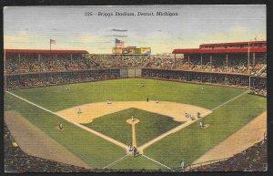 Briggs Stadium During A Game Detroit Michigan Used c1948
