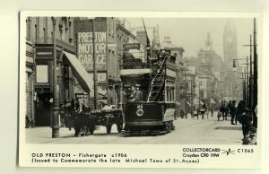 pp1389 - Preston -Tram  no 21 at Fishergate - c1906 - Pamlin postcard