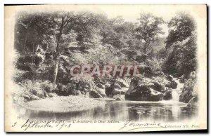 Old Postcard From Around Vichy L & # 39Ardoisiere Gour Saillant