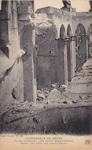 France Reims Cathedrale Partie superieure etat apres bombardement