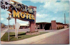 Flagstaff, Arizona ROUTE 66 Roadside Postcard THE SPUR MOTEL Highway 66 c1960s