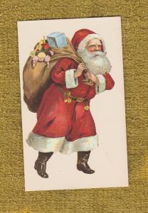 Holiday SANTA CLAUS Post Card St. Nicholas Kris Kringle EX Unused
