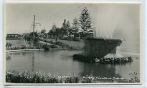 Parker Fountain Marine Parade Napier Hawkes Bay New Zealand RPPC postcard