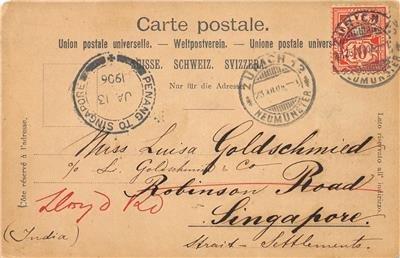 SCHWEIZ Brunnen Lake Lucerne, Switzerland Ingenbohl 1906 Vintage Postcard