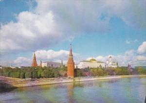 Russia Moscow Panoramic View Of The Kremlin