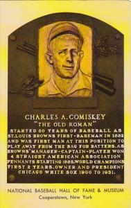 Charles A Comiskey National Baseball Hall Of Fame & Museum  Cooperstown New York