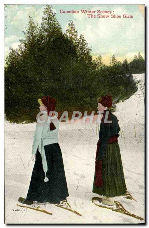 CPA Sports d'hiver Ski Canadian winter scenes The snow shoe girls Canada