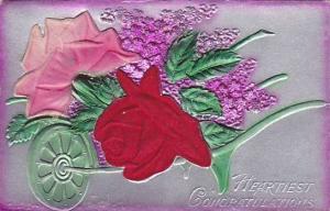 Silk red rose , Heartiest Congratulations, 00-10s