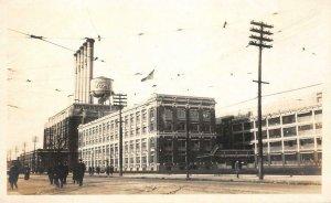 RPPC FORD Detroit, MI Plant Automobile Factory c1910s Vintage Photo Postcard