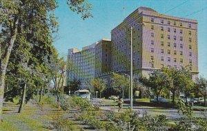 Canada Victoria Avenue Looking East With Hotel Saskatchewan Regina Saskatchewan