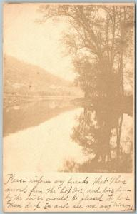 TIDIOUITE WARREN COUNTY PA ANTIQUE 1905 REAL PHOTO POSTCARD RPPC w/ CORK CANCEL