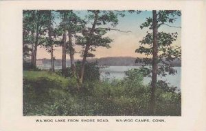 Connecticut Wa-Wog Camps Wa-Wog Lake From Shore Road Albertype