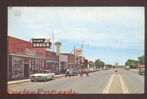 FORT SUMNER NEW MEXICO DOWNTOWN STREET SCENE 1960's CARS VINTAGE POSTCARD