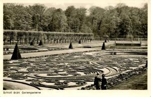 Germany - Bruhl. Formal Gardens at Bruhl Castle    *RPPC