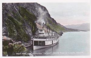 RP:Steamer TUTSHI, West Taku Arm, White Pass & Yukon rout, Yukon, Canada , ...