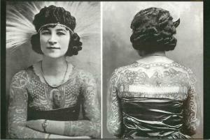 Artoria Gibbons Tattooed Woman Sideshow Freak Modern Tattoo Postcard