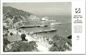 Catalina Island, CA RPPC Postcard AVALON BAY Bird's-Eye View FRASHER Photo 1947