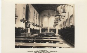 RP: NEW HAVEN , CT , 1910s ; YALE ; #6 ; Sterling Memorial Library Redaing Room