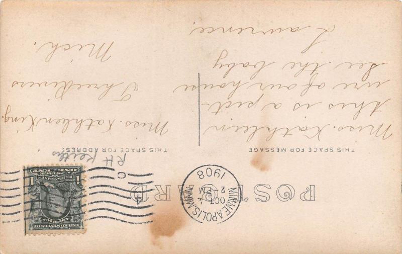 B81/ Minneapolis Minnesota Mn Real Photo RPPC Postcard 1908 Baby Carriage