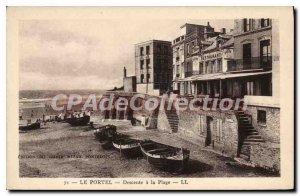 Old Postcard Le Portel Descent to the Beach