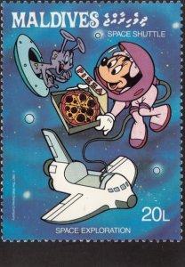 DISNEY , Maldives Stamp PC #2 , 80-90s