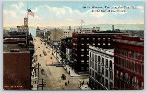 Tacoma Washington~Pacific Avenue~The Peoples Store~Hotel Argonaut~City Hall~1910