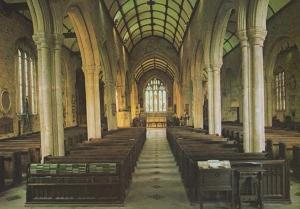 Eustachias Church Interior Devon 1980s Tavistock Postcard