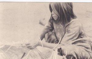 Brazil Native; 1938: India Acuen, Native Girl Weaving Mat