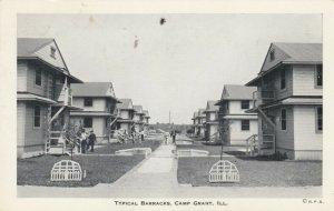 CAMP GRANT, Illinois, 1942; Typical Barracks