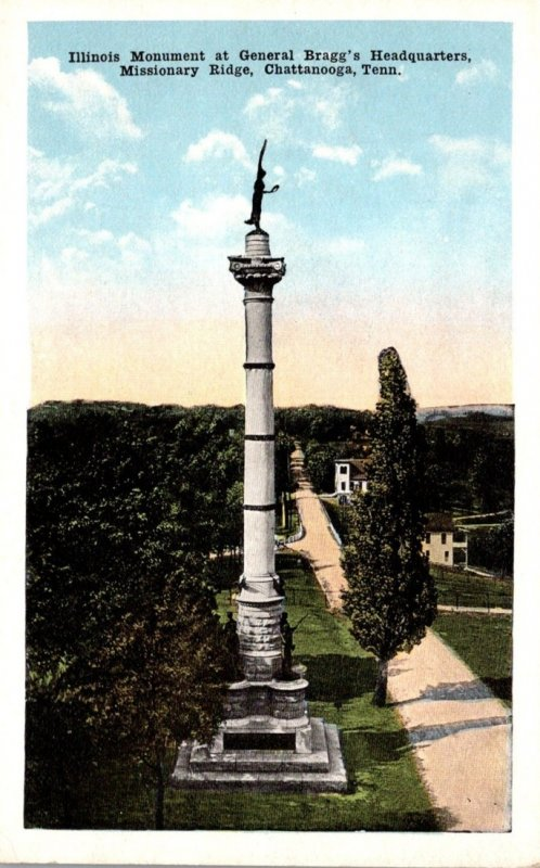 Tennessee Chattanooga Missionary Ridge Illinois Monument At General Bargg...
