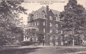 Virginia Lynchburg West Hall Randolph Macon Womans College Albertype