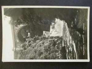 Mint Vintage Poulaphouca Waterfall Co Wicklow Ireland Real Picture Postcard