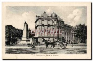 Postcard Old City bombed in Meuse