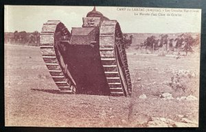 Mint France Real Picture Postcard Pre WW2 Camp Larzac Tank Maneuvers Combat