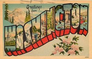 WA, Washington, Large Letter, C.P. Johnson No. 144