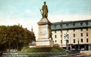 Maine Portland Greetings Showing Soldiers Monument