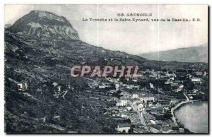 Old Postcard La Tronche Grenoble and Saint Eynard saw the Bastille
