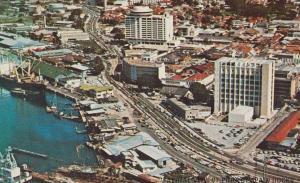 Trinidad Port Of Spain Holiday Inn Docks Harbour Stunning Aerial View Postcard