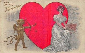 Artist Fred C. Lounsbury St. Valentines Day Unused