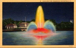 New York Rochester Highland Park Reservoir Curteich