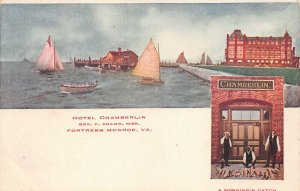 LPS36 Fortress Monroe Virginia Hotel Chamberlin Private Mailing Card Waterfront