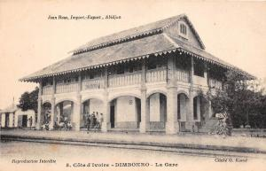 B86473 ivory coast dimbokro la gare  railway train station gare africa