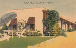 WEATHERFORD , Texas , 1930-40s ; Parker's Hillcrest Motel
